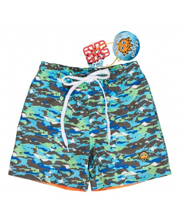 STORM GREEN SWIM SHORT