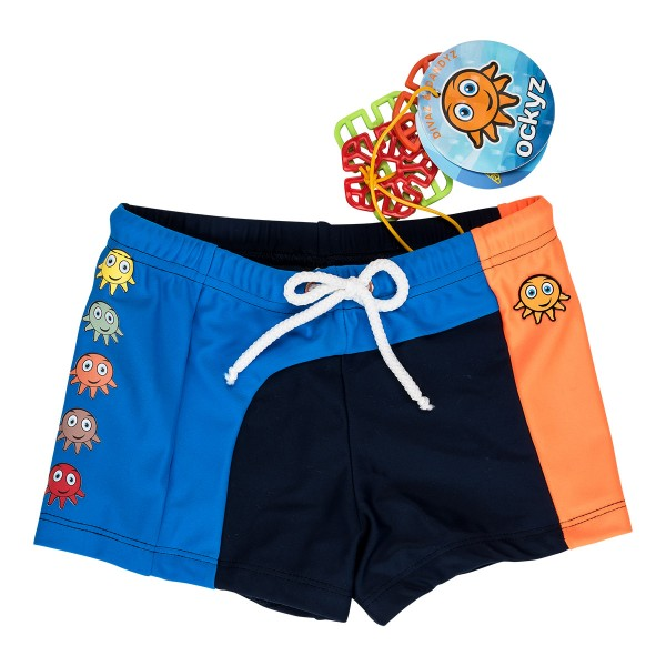JIMM ORANGE SWIM TRUNKS
